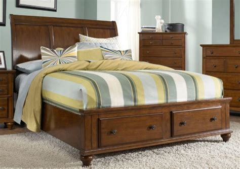 broyhill furniture hayden place california king storage sleigh bed in light ch traditional