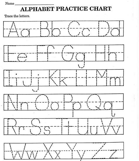 Free Printable Letter Tracing Worksheets For Kindergarten Preschool