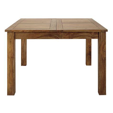table de salle 224 manger 224 rallonge en bois de sheesham massif l 130 cm stockholm maisons du monde