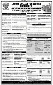 LCWU BS, PhD Programs Admission 2015 Entry Test Result ...