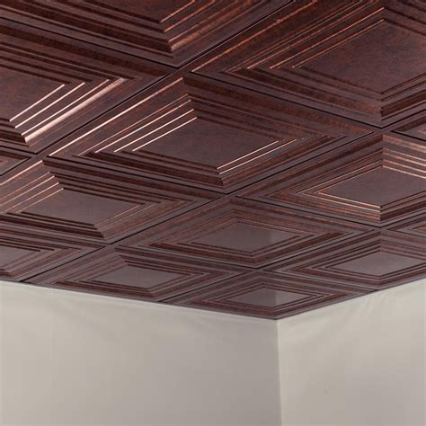 fasade ceiling tile 2x2 suspended traditional 3 in moonstone copper