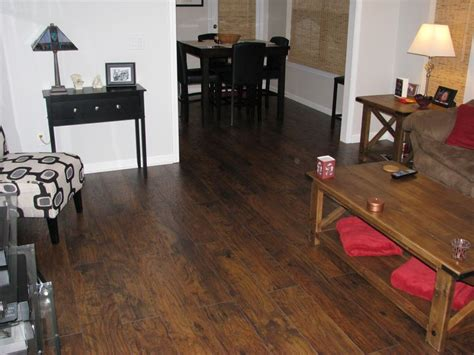 new saratoga hickory scraped flooring throughout