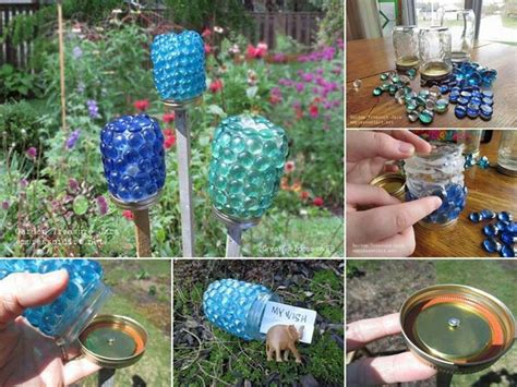 diy lawn ornaments lawn up cycle oh so pretty gardens lighting and led