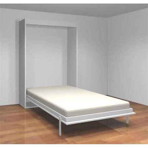 teo armoire lit escamotable 140 cm blanc mat achat vente lit escamotable pas cher couleur