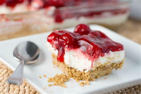 cherry dessert graham cracker crust
