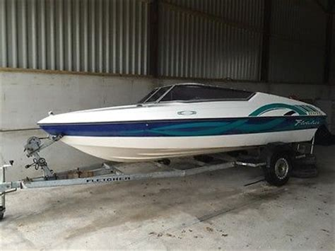 Speedboot Inboard by Power Boat Fletcher Trailer Inboard Engine Mercury Leg