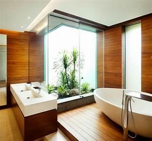 Badgestaltung Mit Pflanzen : moderne badezimmer 40 luxuri se einrichtungsideen ~ Markanthonyermac.com Haus und Dekorationen