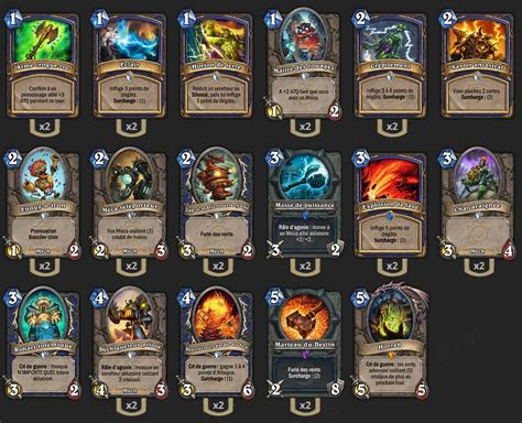 deck chaman m 233 ca tgt hearthstone heroes of warcraft chaman shaman thrall