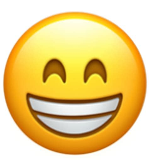 A Version Of The Grinning Face Showing Smiling Eyes. This