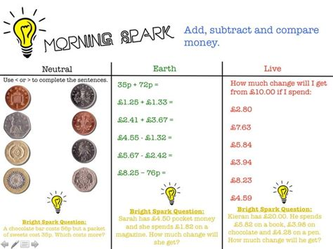 Morning Spark Maths Activities Year 34 By Waterscj  Teaching Resources Tes