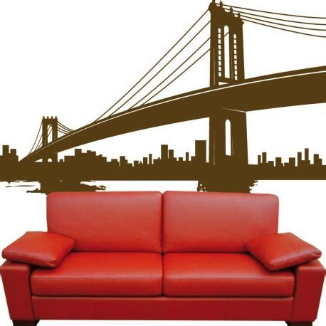 sticker pont new york trompe l œil grand format