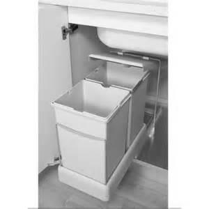 poubelle rectangulaire 2x14l 8077221 la quincaillerie du meuble