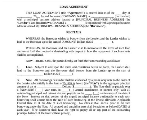 27+ Loan Contract Templates