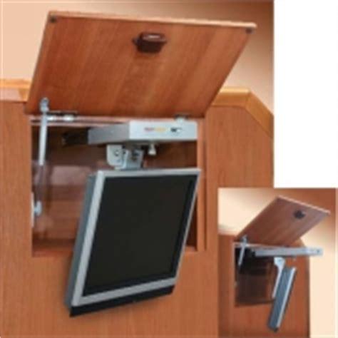 support tv lcd 224 fixer au plafond ou sur un meuble pour cing car caravane ou bateau