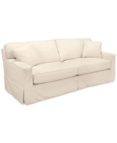 shawnee 2 seat sofa with slipcover furniture macy s