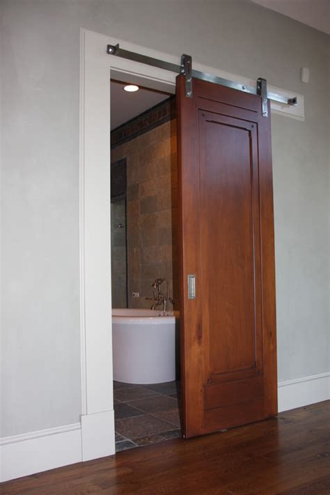 barn door for bathroom we are remodeling two small bathrooms and would consider