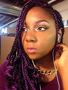 Senegalese Twists With Purple