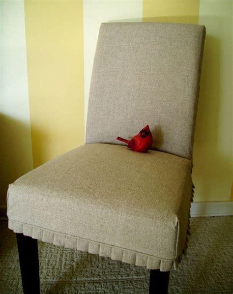 slipcover parson chair slipover with knife pleats linen