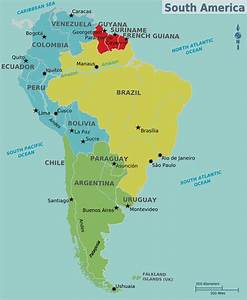 Map Of South America Countries And Capitals