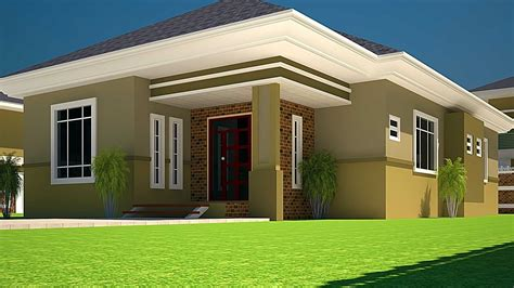 House Plans Ghana  3 Bedroom House Plan For A Halfplot