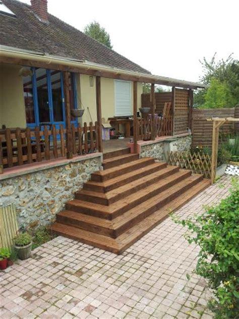 escalier exterieur en bois