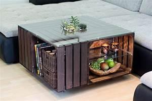 Wohnzimmertisch Mit Glasplatte : couchtisch aus obstkisten mit glasplatte trytrytry ~ Markanthonyermac.com Haus und Dekorationen