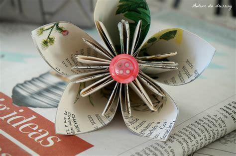tuto fleurs en papier origamiautour du dressing