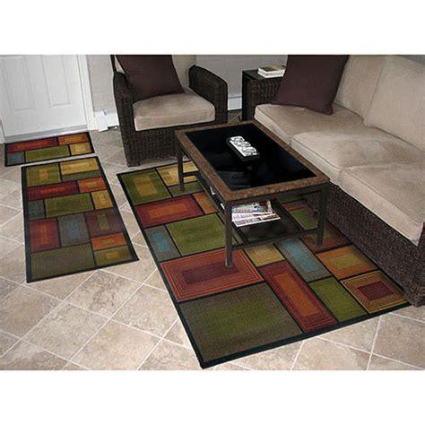 living room rugs walmart prism 3 rug set walmart