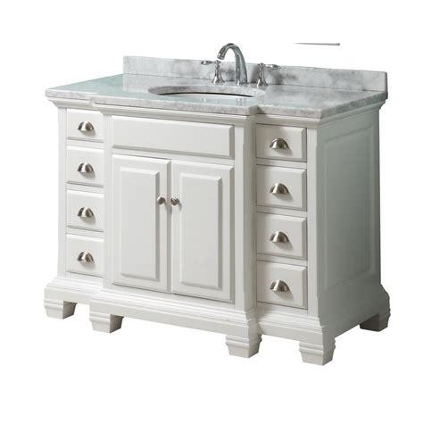 shop allen roth vanover white undermount single sink birch bathroom vanity with marble