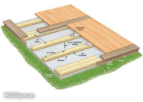 how to build a deck a concrete patio concrete