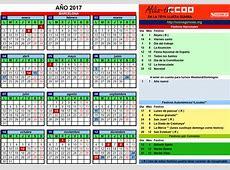 Calendario 2017 en Vacaciones eDreams CCOO Agencias