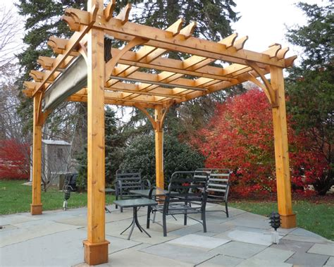 pergola kit 10x12 with retractable canopy traditional patio vancouver by outdoor living