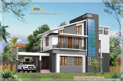 modern duplex villa elevation 1925 sq ft kerala home design and floor plans