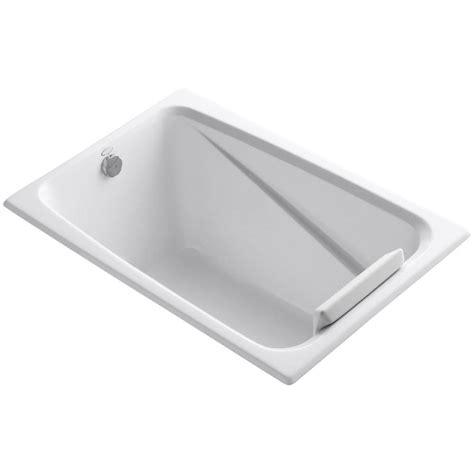 4ft bathtubs home depot kohler 4 ft reversible drain acrylic soaking tub in