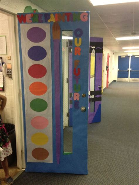86 best images about great classroom doors on snowman door ribbon week and back
