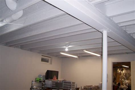 great tutorial on how to paint a basement ceiling unfinished basement ideas