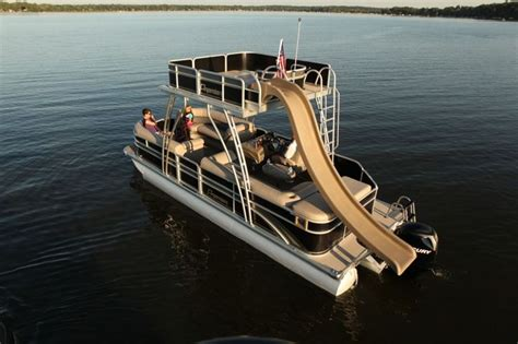 Pontoon Party Boat With Slide double decker pontoon w slide cars pinterest lakes
