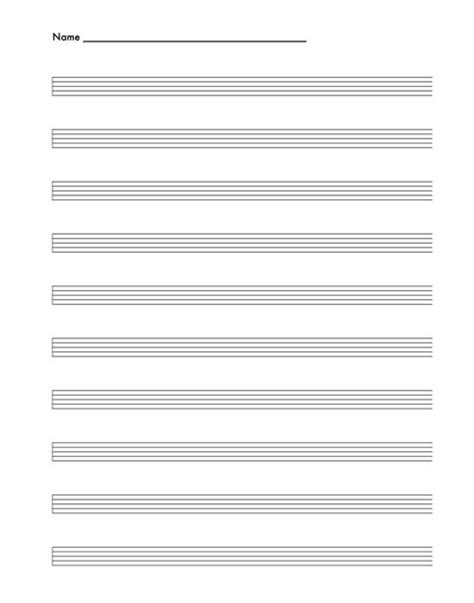 Theory Substruction Paper Template by Free Blank Sheet Music Printouts For Piano Nylon