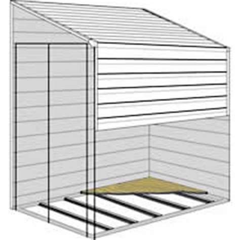 arrow yardsaver storage sheds floor kit 4x7 or 4x10 fb47410