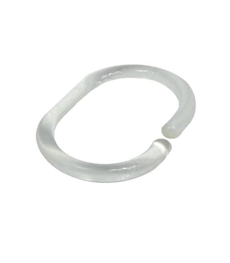 anneaux pour rideaux de en plastique transparent 12 anneaux wadiga