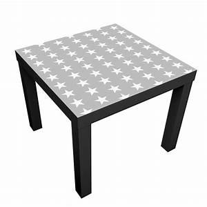 Ikea Lack Folie : m belfolie f r ikea lack klebefolie wei e sterne auf grauen hintergrund ~ Markanthonyermac.com Haus und Dekorationen