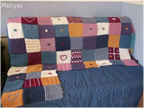 plaid tricot facile assemblage 63 carr 233 s tricoter tricot facile tricot and stitch