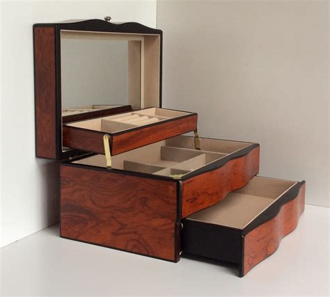 Quality Large Wooden Semi Automatic Jewellery Box with