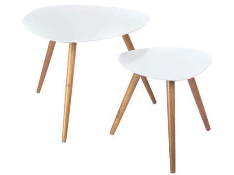 lot de 2 tables mileo coloris blanc vente de table basse conforama i great stages