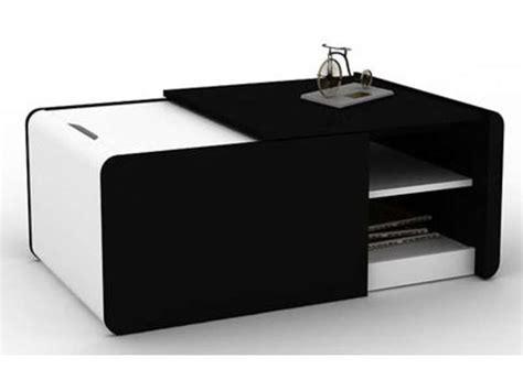 table basse extensible cine 2 coloris noir blanc conforama