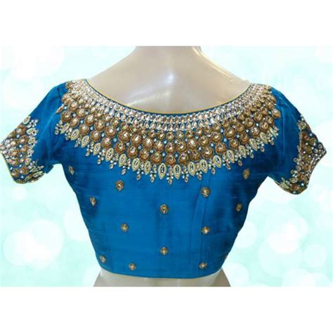 Boat Neck Readymade Blouses Online by Boat Neck Readymade Beautiful Designer Silk Work Blouses
