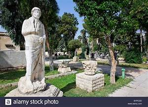 Statues in the gardens of the National Museum, Damascus ...
