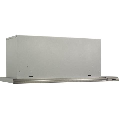 broan elite 15000 silhouette slide out 30 in range in brushed aluminum 153004 the home depot