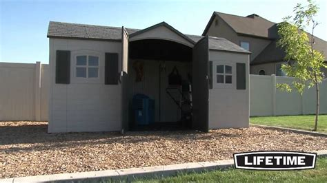 lifetime 15x8 garden storage shed 6446