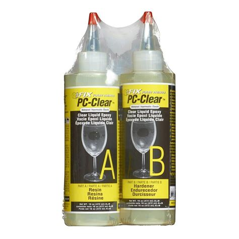 Pc Products 16 Oz Pcclear Liquid Epoxy070161  The Home